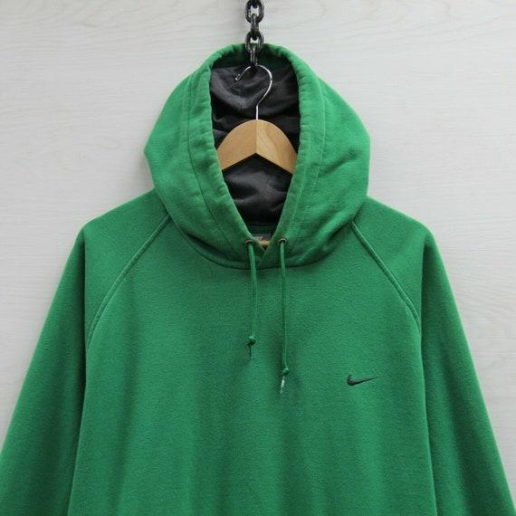 Nike Sweatshirt Hoodie Size 2XL Green Embroidered