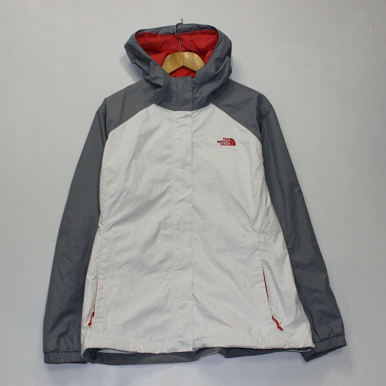 1aebbc3b6 The North Face Dryvent Light Jacket Womens Size XL White Gray
