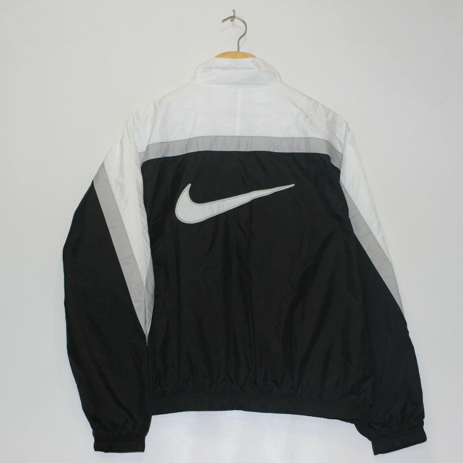 Vintage adidas Windbreaker Jacket Youth Size L 14 16 Blue White Stripe