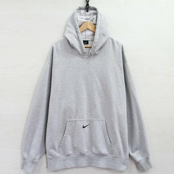 Nike Sweatshirt Hoodie Size 3XL Heather Gray Embro