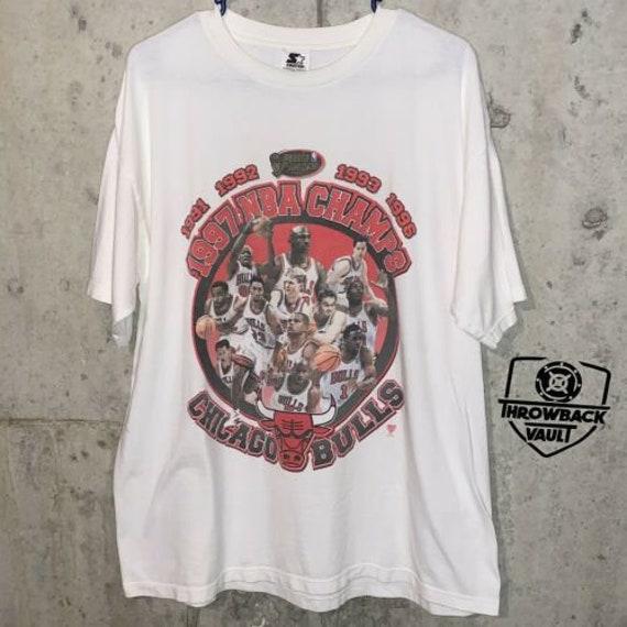 Vintage Chicago Bulls T-Shirt NBA Finals 97 Champi