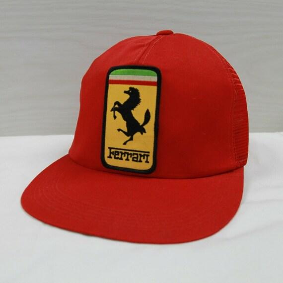 Vintage Ferrari Snapback Trucker Hat Cap Size OSFA