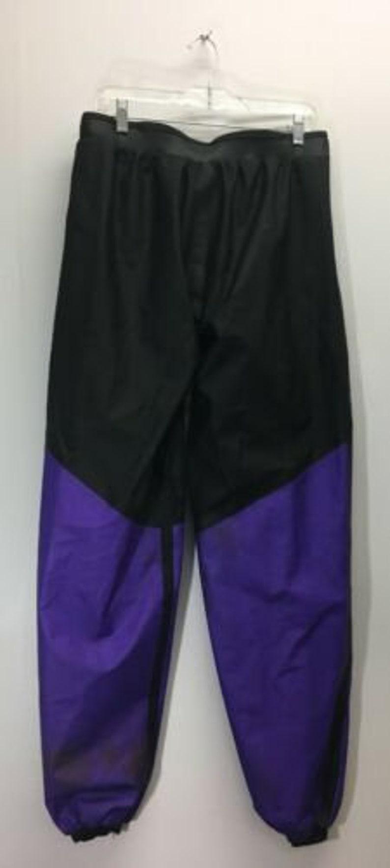 Vintage Polaris Light Snowmobile Track Suit Size Purple Black Red Spellout