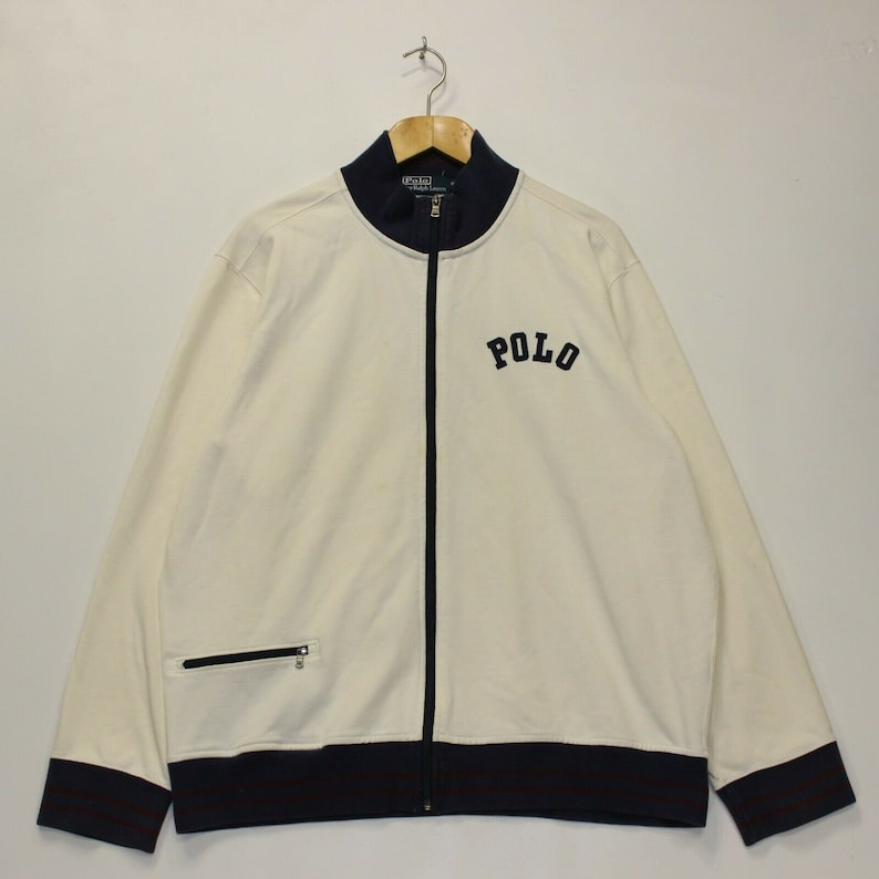 Polo Ralph Lauren Vintage US Flight Jacket in Size XXL  in Beige