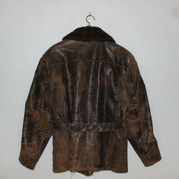 Vintage 50s 60s Sherpa Fleece Lined Sportswear Di… - image 3