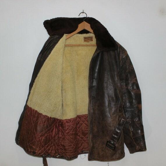 Vintage 50s 60s Sherpa Fleece Lined Sportswear Di… - image 2