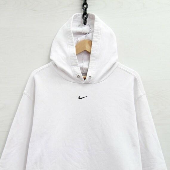 Vintage Nike Sweatshirt Hoodie Size XL White Embro
