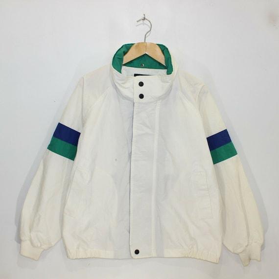 Vintage Nautica Light Jacket Size Large White Blue
