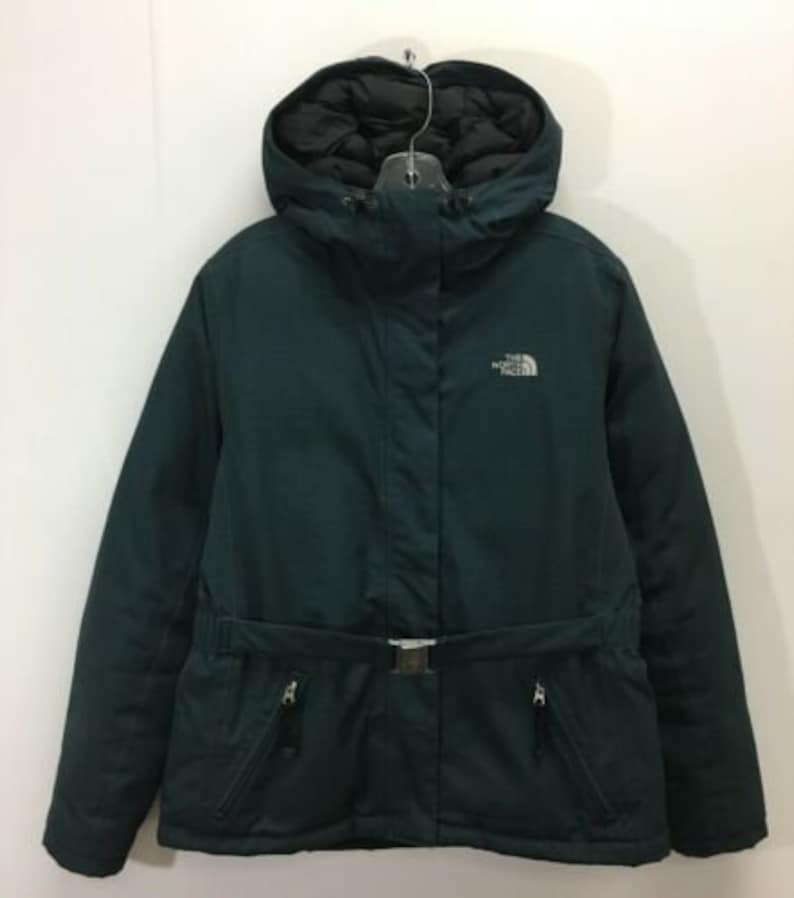 f459d6ff8 The North Face Down Insulated Belted Hyvent Jacket Womens Size Large Grid