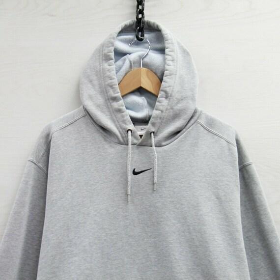 Vintage Nike Sweatshirt Hoodie Size XL Heather Gra