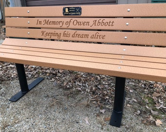 Memorial Bench Etsy