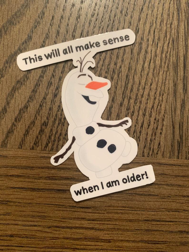 Olaf sticker bundle 5 stickers