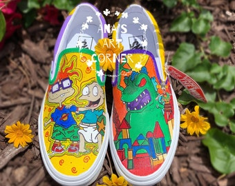 Rugrats handpainted shoes
