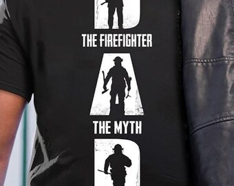 946f5f46d5 The Firefighter The Myth The Legend T Shirt Back Side - Proud Firefighter  Fireman Fathers Day Gift Mens Clothing