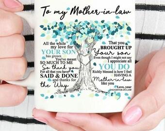Mom In Law Mug Etsy