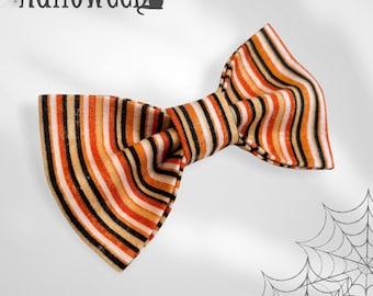 Halloween Stripes Pet Bow Tie