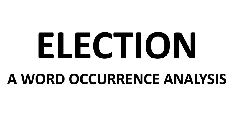 Election Word Occurrence Analysis image 0