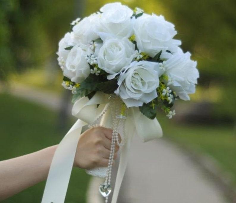 Wedding Bouquets Prom Bridal Bouquet Chair Back Artificial Flowers Decor