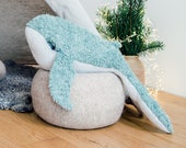 Huge Plush Humpback Whale, Sea Animal Softie, Handmade Whale, Nursery Decoration, Birthday Gift Idea