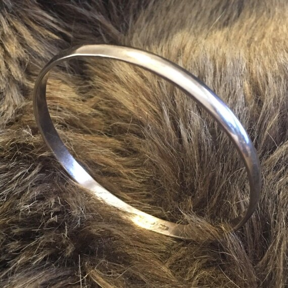Mid century Mexican silver 925 bangle bracelet