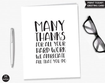 Funny Card for Friend Good Things Come to Those Who Work Their Asses Off Congratulations Card Hard Work Card Graduation Card Promotion