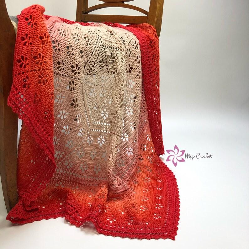 Crochet Pattern  Lovely Leaves Blanket  Mijo Crochet  image 0