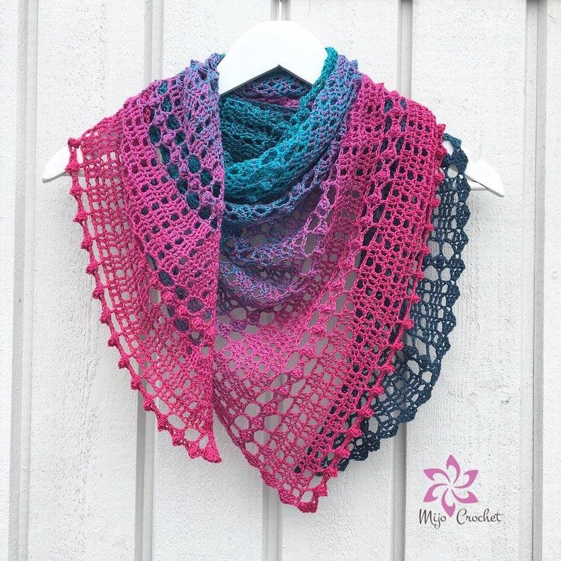 Crochet Pattern  Droplets  Mijo Crochet  Triangular Crochet image 0