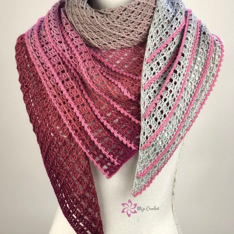 Crochet Pattern  Hypatia  Mijo Crochet  triangular crochet image 0