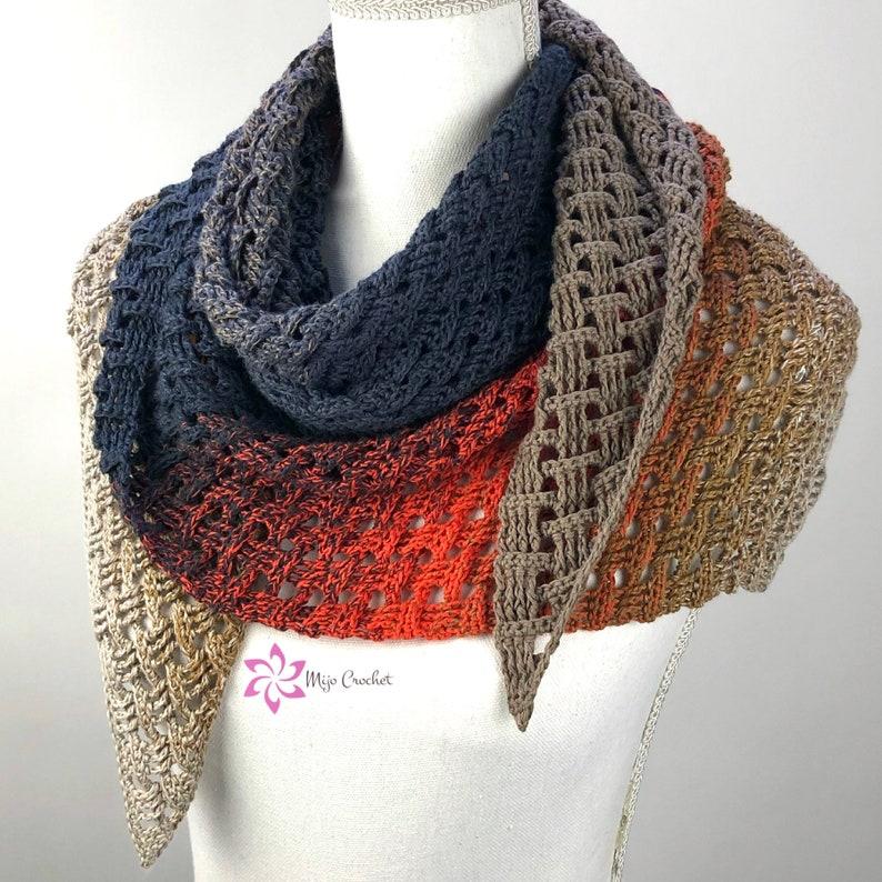 Crochet Pattern  Forester  Mijo Crochet  asymmetric crochet image 0
