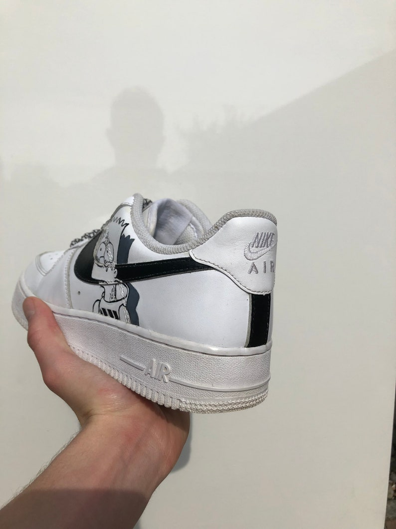 4f858a4c64b83 El-Barto handpainted one of a kind Airforce1