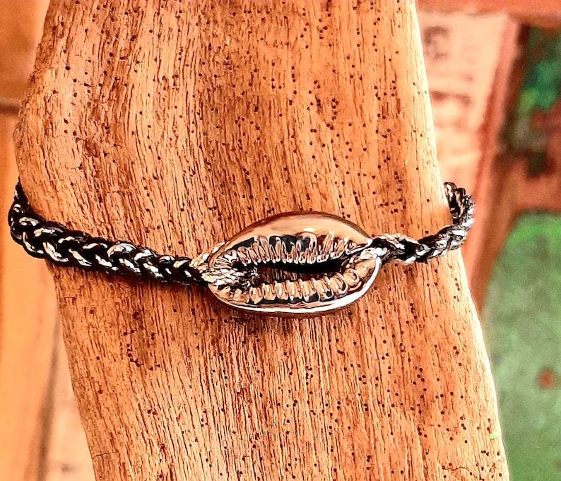 Silver grey brazilian cured bracelet