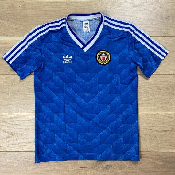 Vintage Adidas 1988-1990 USA Away Football Shirt
