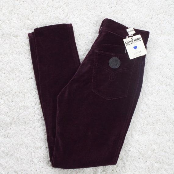 Vintage Moschino Velour Skinny Trouser