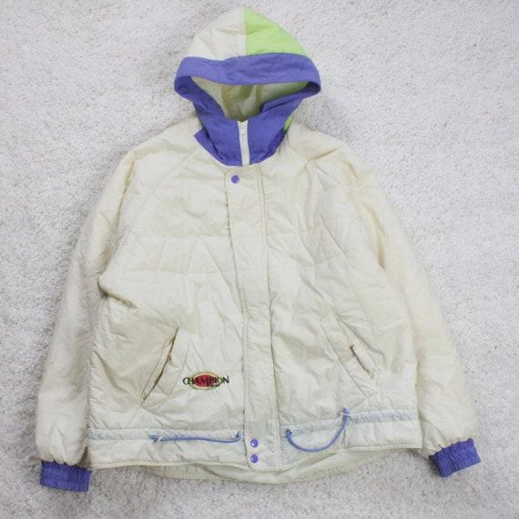 Vintage Champion Sport Hooded Puffer Jacket