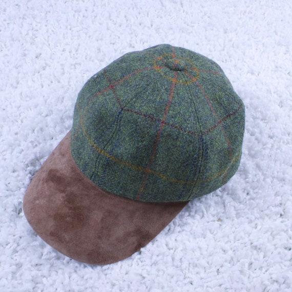 Vintage Olney Suede Leather Tweed Cap