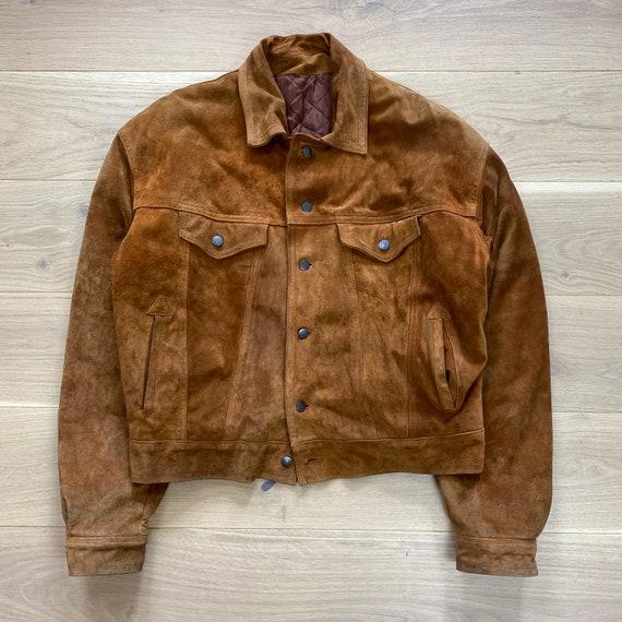 Vintage 60s Suede Leather Padded Jacket