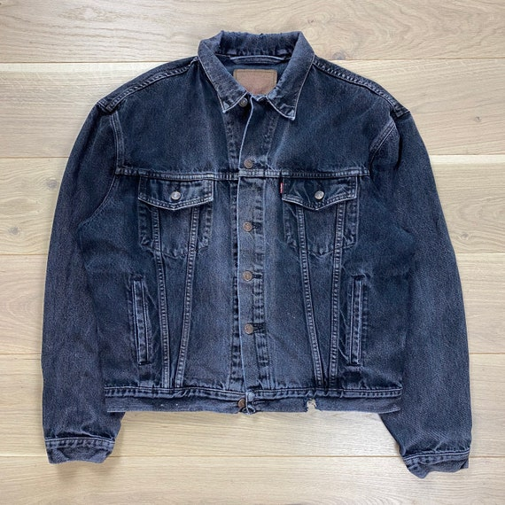 Vintage Levi's Sun Faded Denim Trucker Jacket