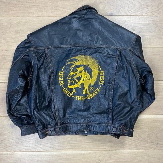Vintage Diesel Women's Leather Jacket