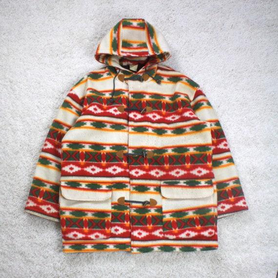 Vintage 90s Navajo Print Fleece Jacket