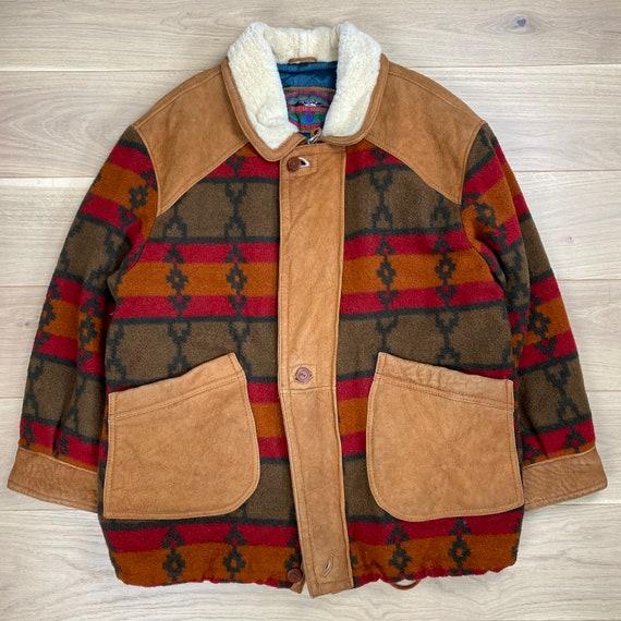 Vintage 70s Wool Suede Leather Jacket