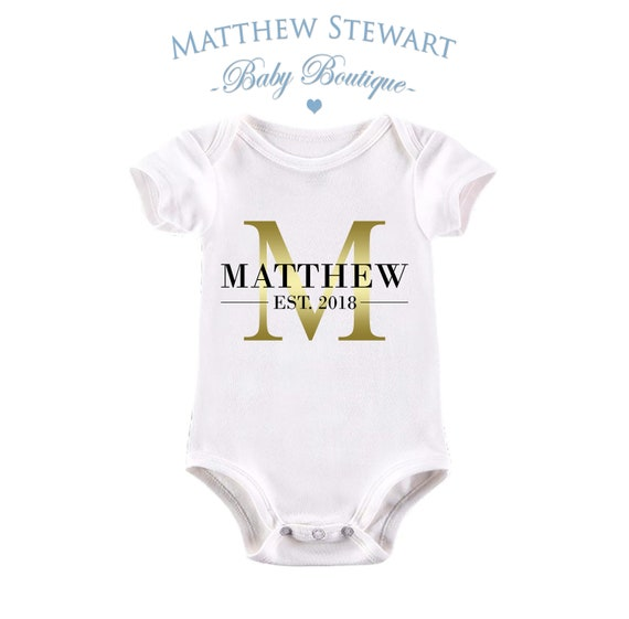 PERSONALISED BABY VEST BODYSUIT UNISEX MOUSE BOW ANY NAME