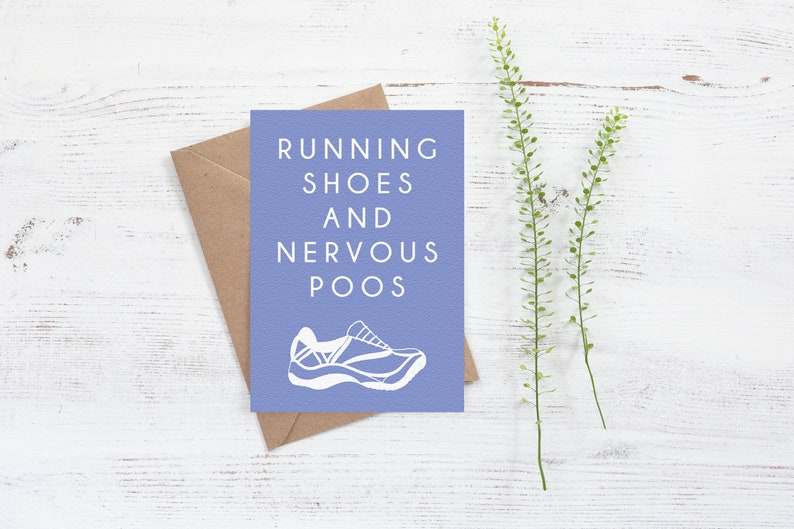 c0ecc6d3ae125 Running shoes and nervous poos Card