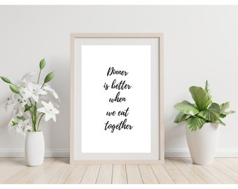 Family Dinner Quote Etsy