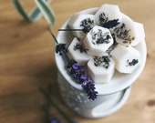 Lavender, Vanilla Benzoin Soy Wax Melts Sleepy Twilight Scented Soy Wax Tarts Vegan and Natural Plastic Free Hand-poured