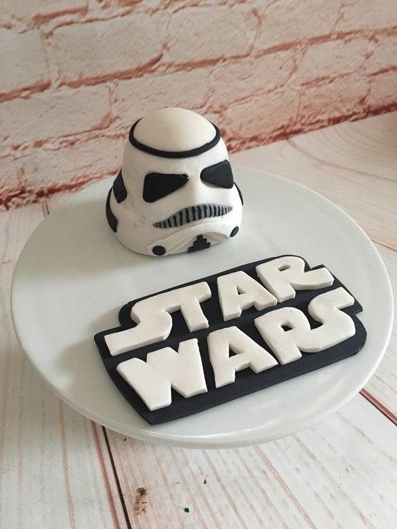 Peachy Edible Cake Topper Set Star Wars Storm Trooper Etsy Personalised Birthday Cards Vishlily Jamesorg
