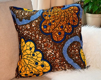 Authentic Modern Ankara African print  throw pillow cover Cushion Cover  Decorative pillow home decor Scatter Pillow 20X20 Boho