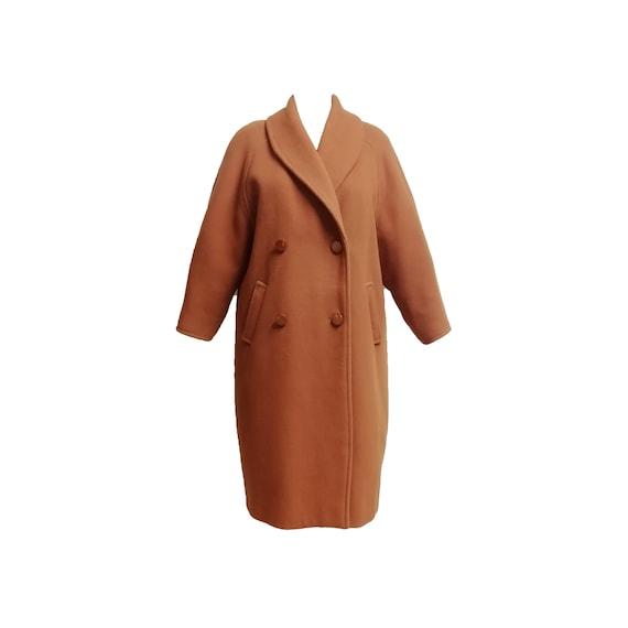Cocoon coat vintage 80s 90s egg shaped WOOL oversi