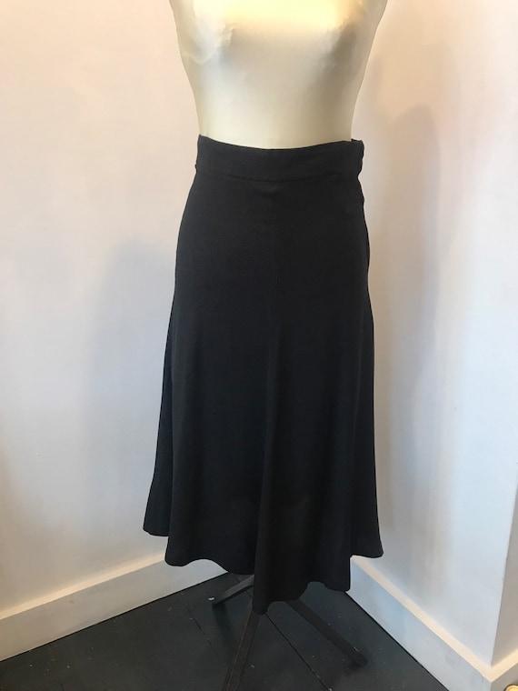 Classic Quorum Ossie Clarke Crepe Black Skirt