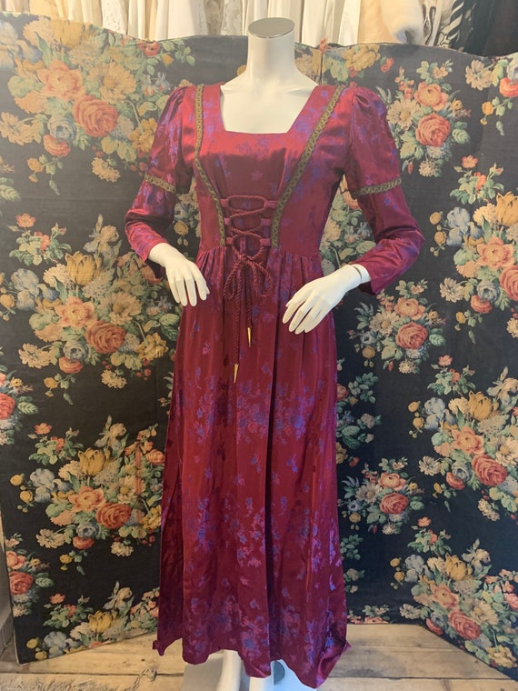 Vintage Dolly rockers late 60s medieval style maxi