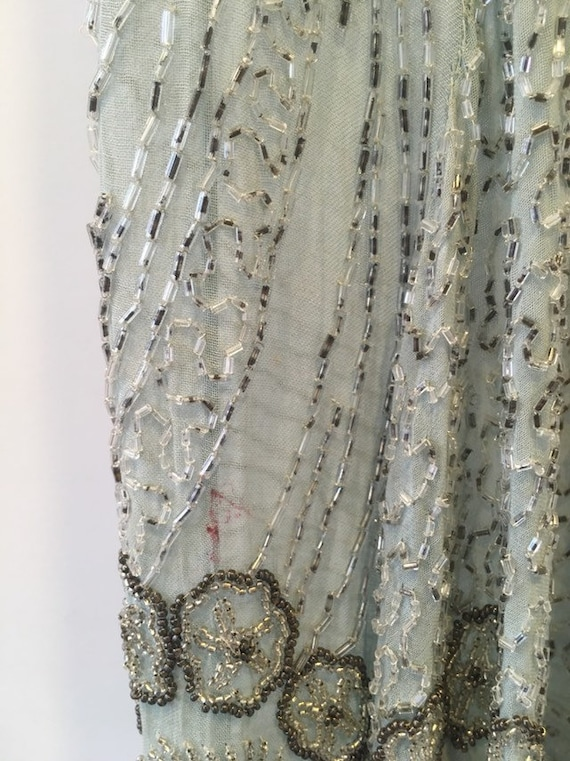 Vintage 1920s Flapper Beaded Dress. - image 7